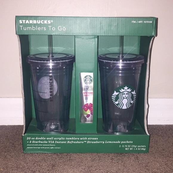 Starbucks Other Tumbler Set 20oz W Instant Refreshers Poshmark